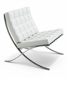 Pavillion Lounge Chair White - Inspired By Designs of Van Der Rohe