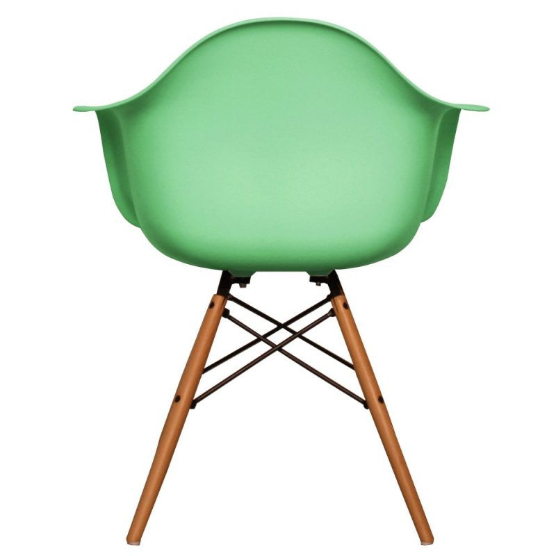 Charles Ray Eames Style DAW Arm Chair - Peppermint