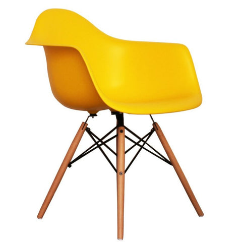 Superieur Charles Ray Eames Style DAW Arm Chair   Yellow