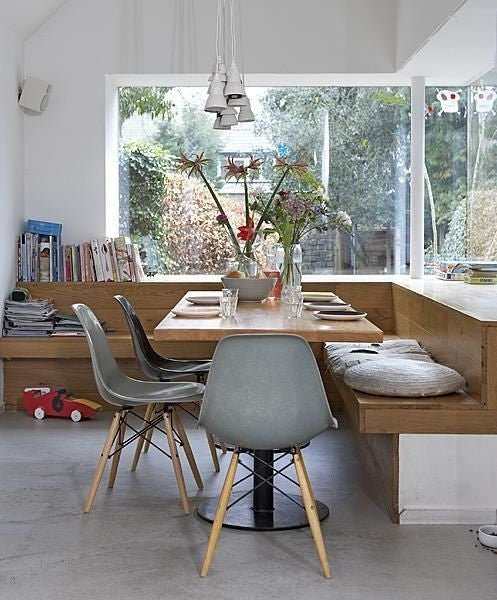 Charles Ray Eames Style DSW Side Chair  Light Grey - Natural Legs