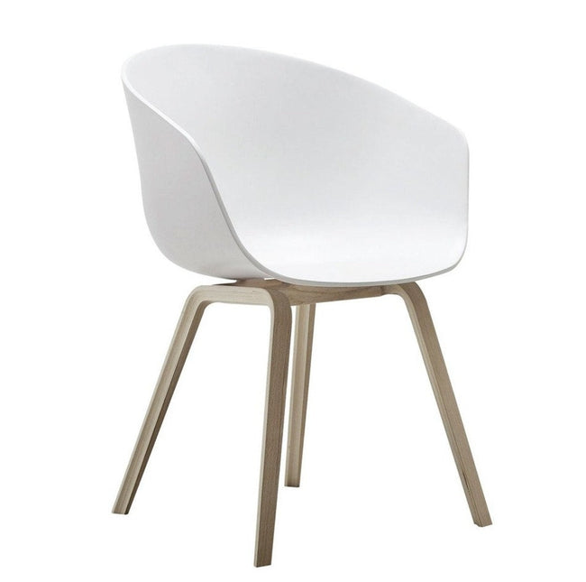 Vogue Natural Arm Chair - White