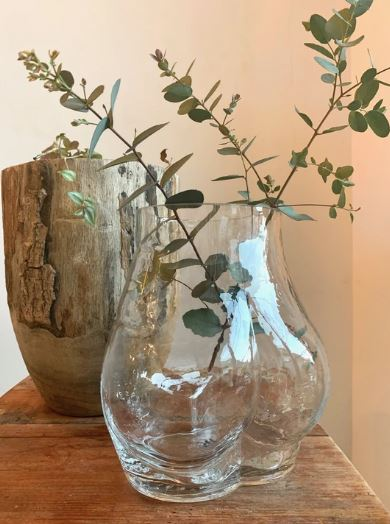 HK Living Glass Bum Vase