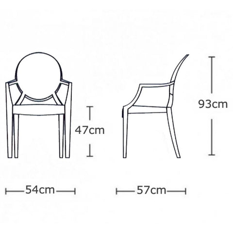 Philippe Starck Style Louis Ghost Arm Chair - Clear – S.ALTERNATIVE ...