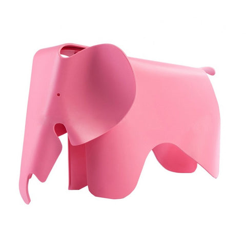 Childrens Charles Ray Eames Style Elephant Toy Stool - Pink
