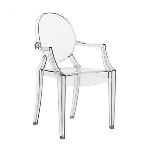 Philippe Starck Style Louis Ghost Arm Chair - Clear