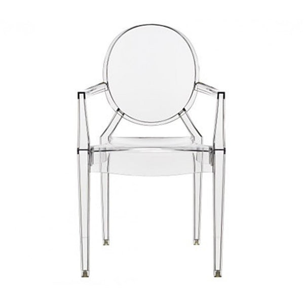 philippe starck style louis ghost arm chair clear s. Black Bedroom Furniture Sets. Home Design Ideas