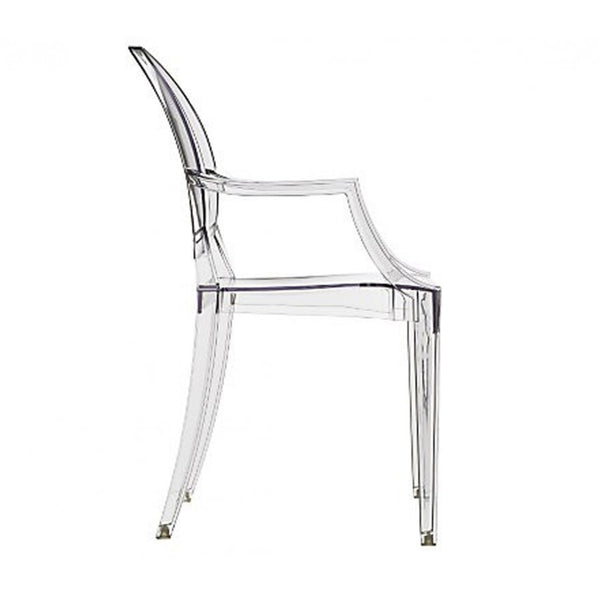 Philippe Starck Style Louis Ghost Arm Chair Clear S Alternative Furniture