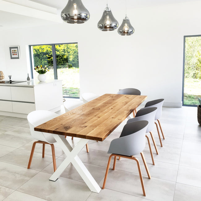 X-Frame Oak Dining Table by Strachel A.F.