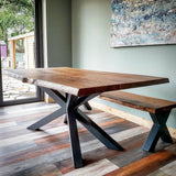 Star Frame Live Edge Oak Table  by Strachel A.F.