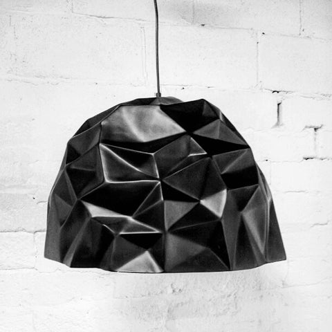 HK-Living Pendant Rope Lamp Black Stroke