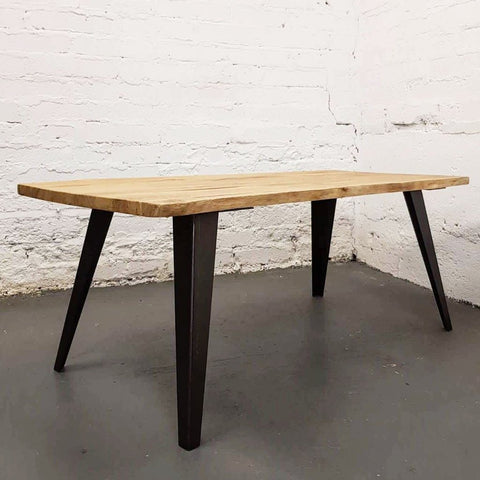 Burnt Oak Live Edge Oak  Dining Table by Strachel A.F.