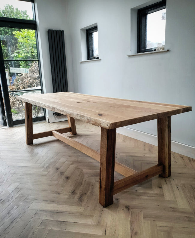 Farmhouse Solid Oak Dining Table by Strachel A.F.
