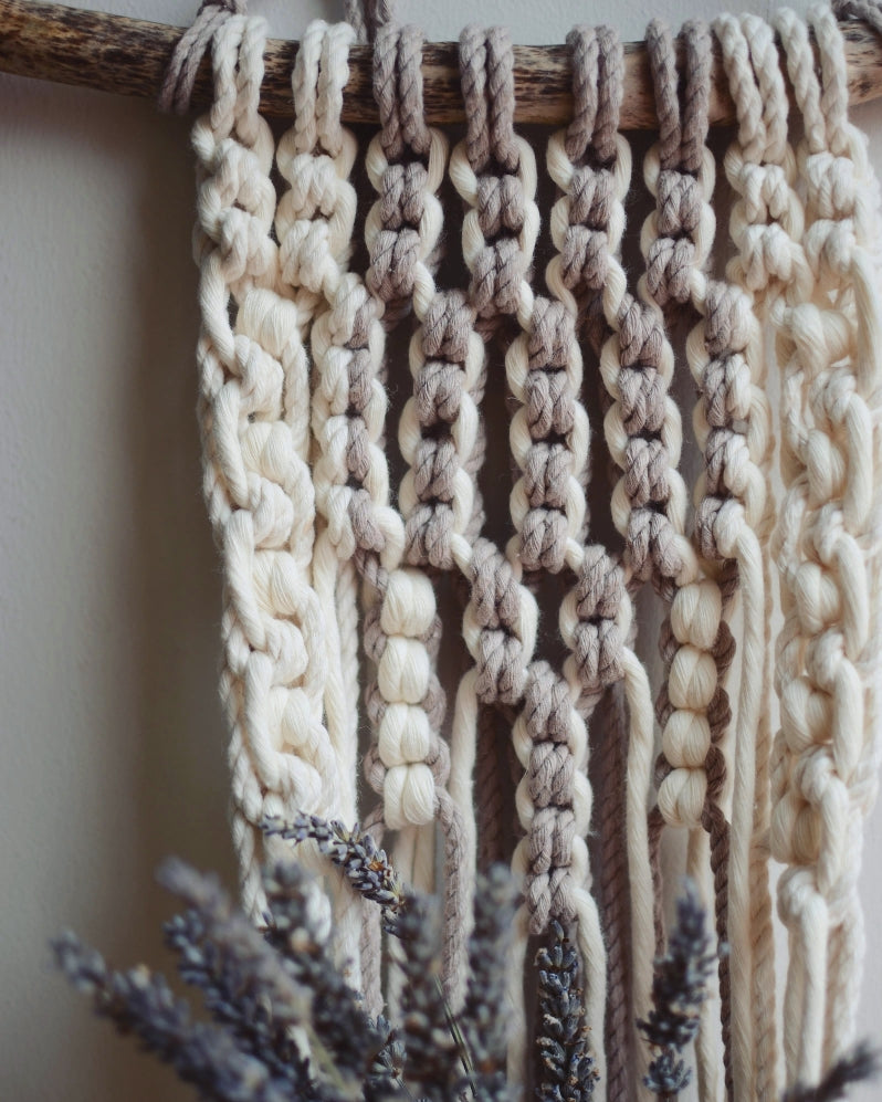 Pearl & Neutral Boho Style Wall Hanger