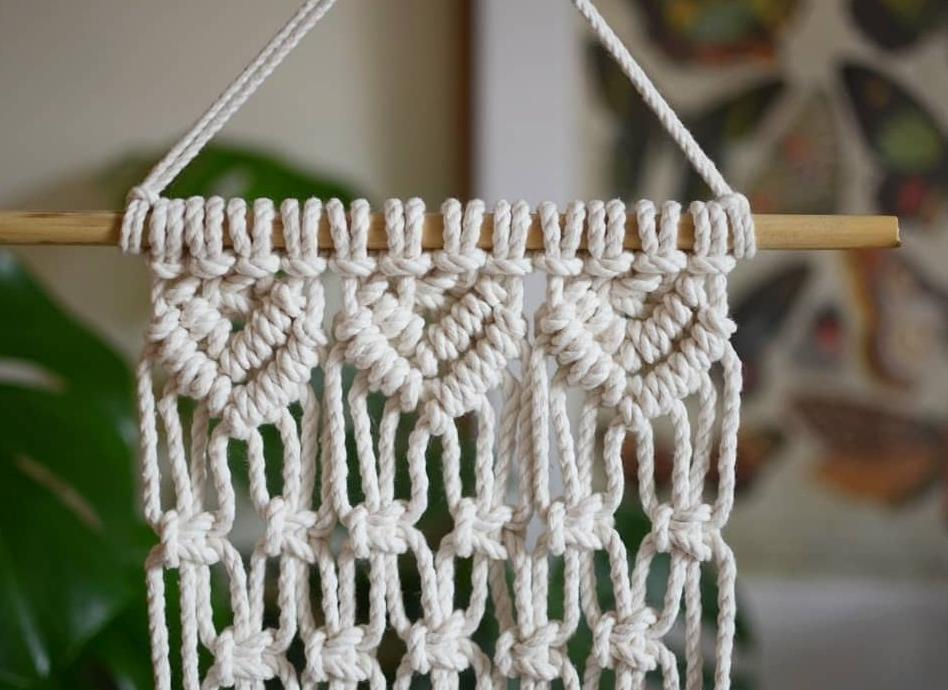 Macrame Wall Plant Hanger Neutral