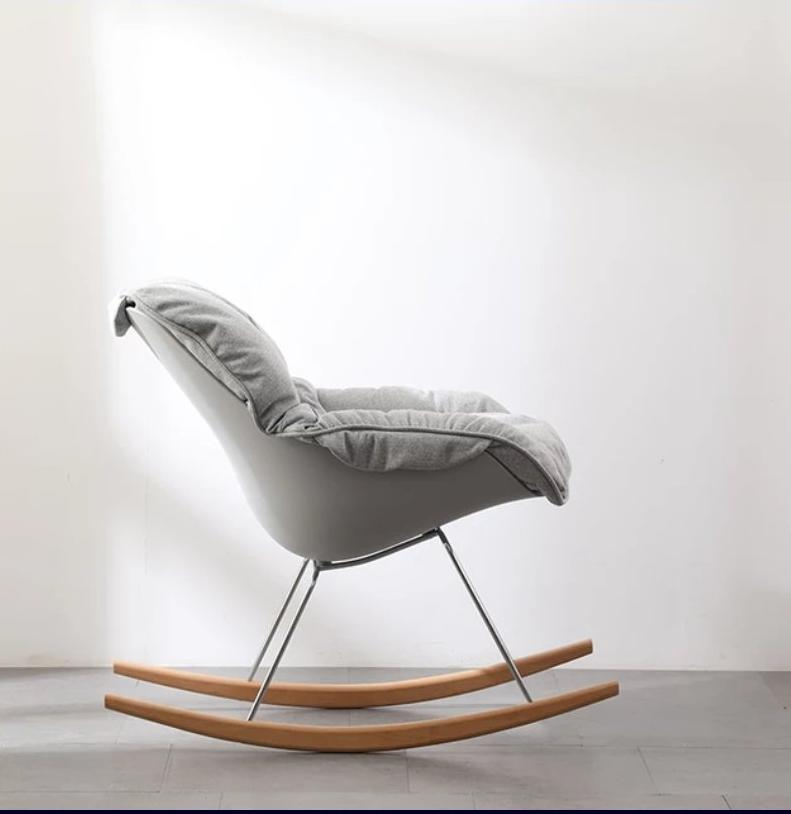 Fabric Soft Seat Rocking Chair Grey