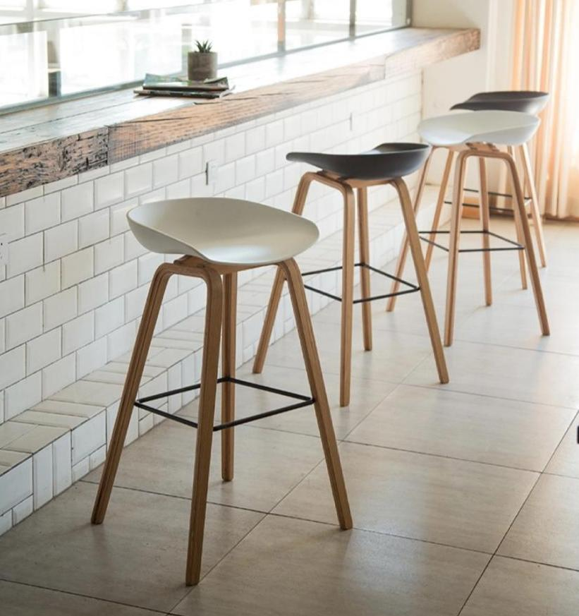 Vogue Low Back Bar Stool - White