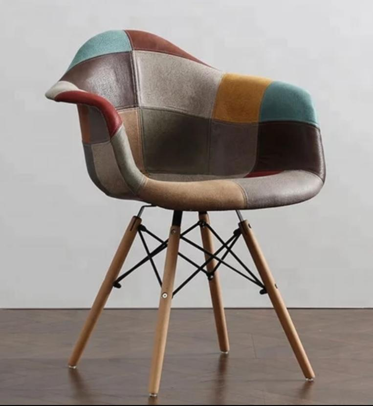 Charles Ray Eames Style DAW Chair Patchwork