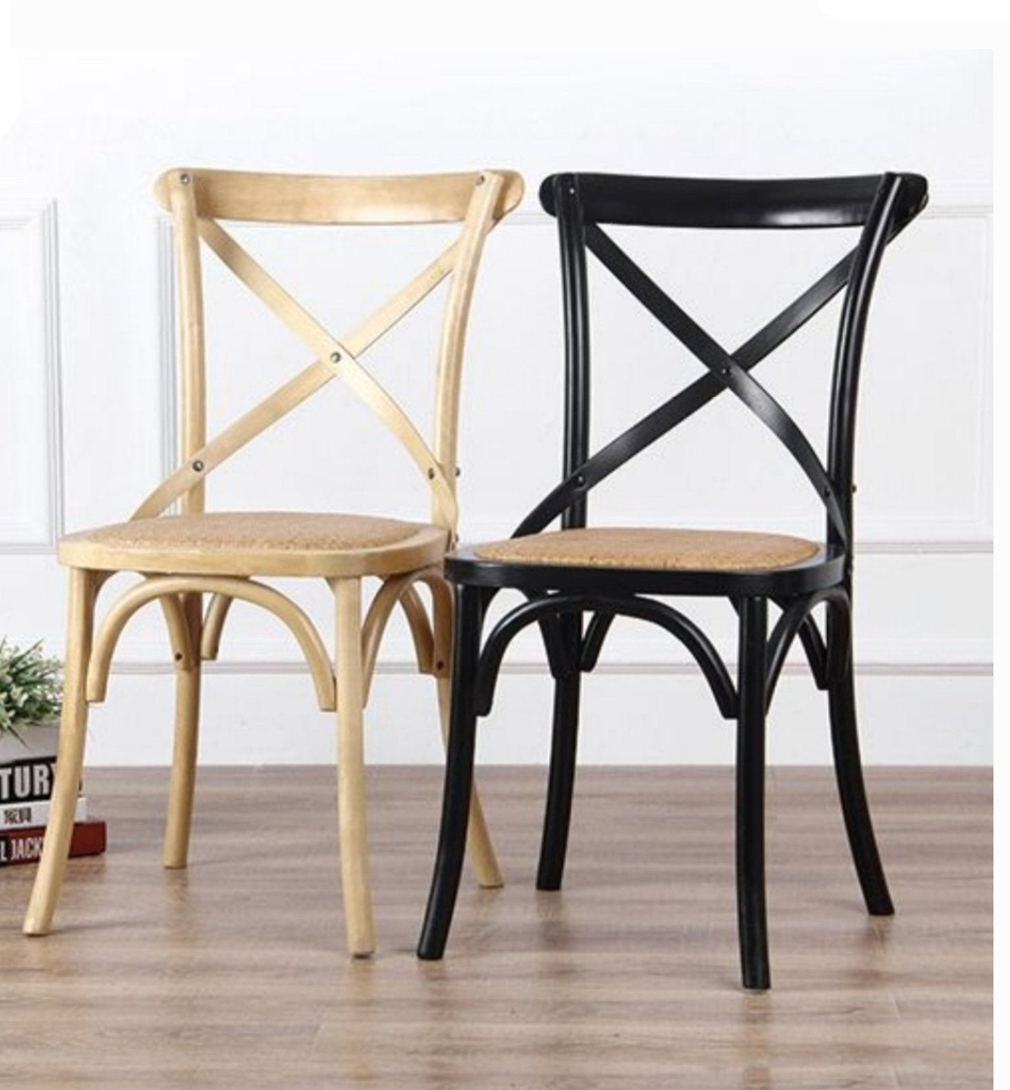 Crossback Chair - Black / Natural