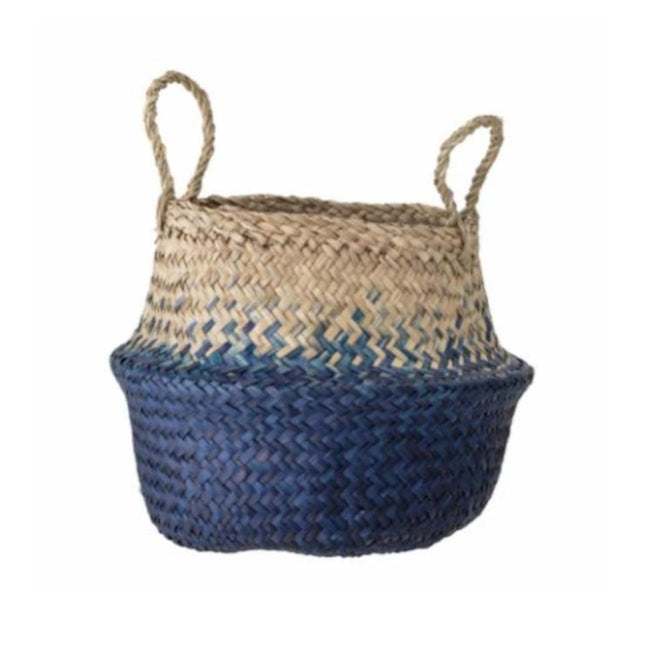Seagrass Basket Natural/Blue