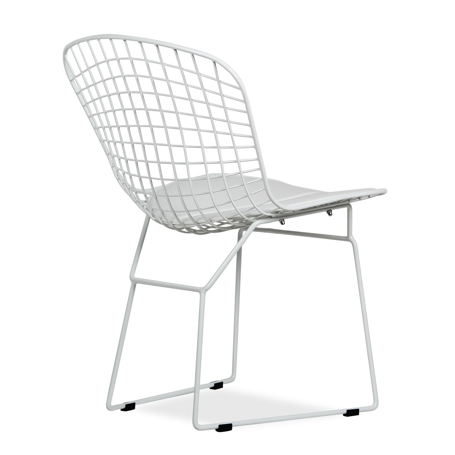 Harry Bertoia Wire Side Chair - All White Powder Coat