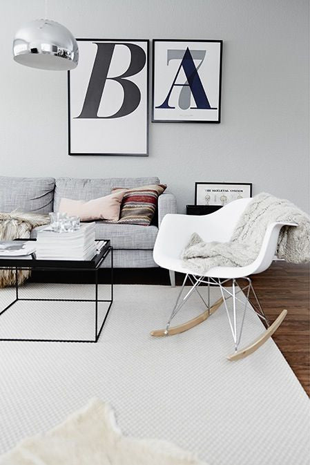 Charles Ray Eames Style RAR Rocking Chair - White