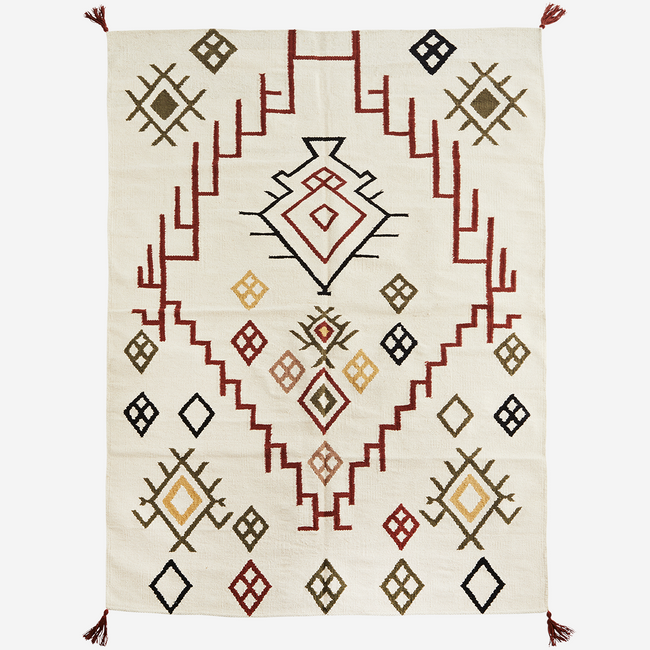 Handwoven Cotton Rug - Madam Stoltz