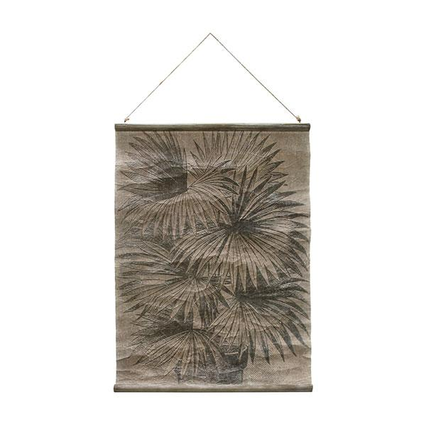 HK-Living Vintage Wall Chart: Palm Leaves