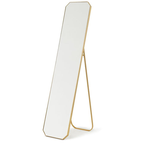 HK-Living Oval Mirror Gold/Grey