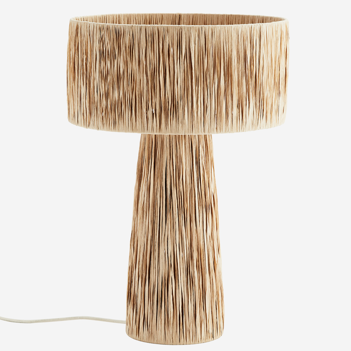 Raffia Table Lamp - Madam Stoltz