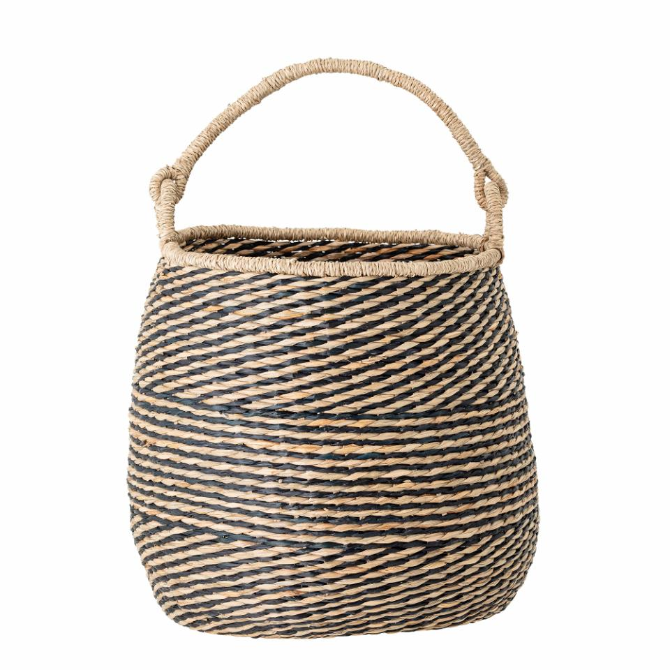 Seagrass Basket With Handel Natural/Black