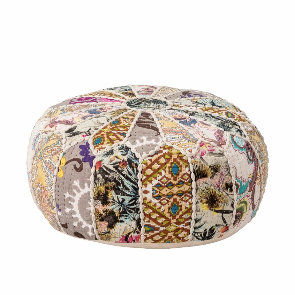 Gert Pouf Cotton Multi-Color
