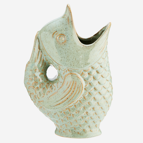 HK-Living Ceramic Shell Vase Terra L