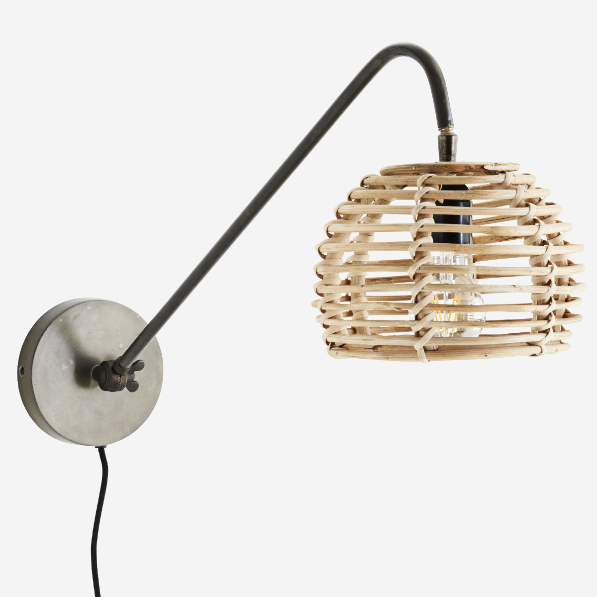 Wall Lamp With Bamboo Shade