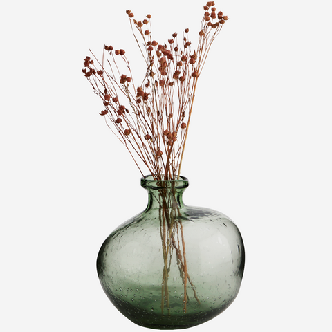 HK Living Organic Circle Vase Matt Ice Blue