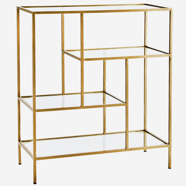Quadratic Iron Standing Shelf - Madam Stoltz