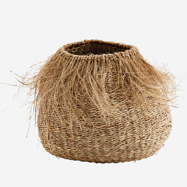 Seagrass Basket With Fringes