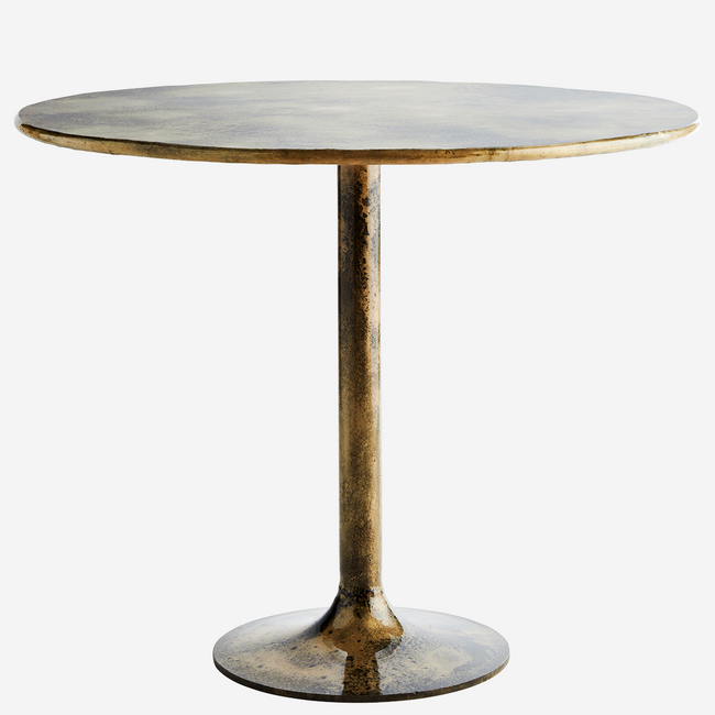 Iron Dining Table / Brass Finish. - Madam Stoltz