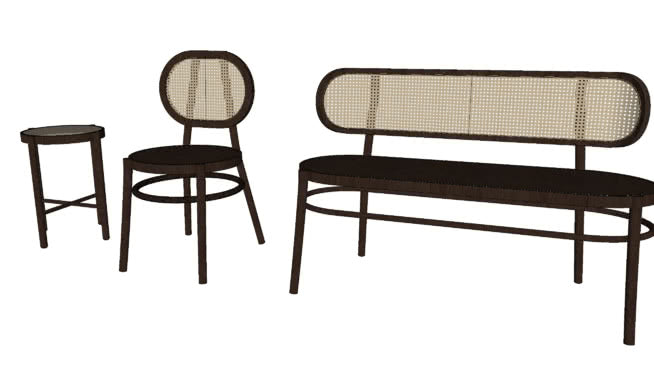 HK-Living Retro Webbing Bench Black
