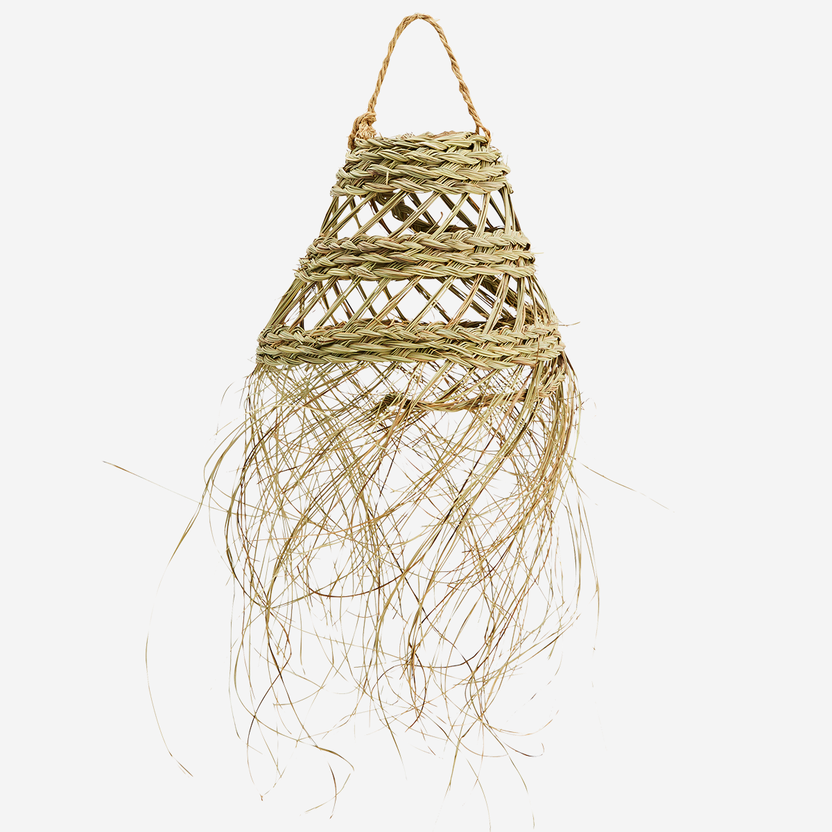 Palm Leaves Lamp Shade Hairy Bell - Madam Stoltz