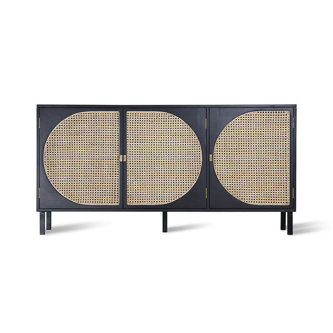 HK-Living Retro Webbing Sideboard Black