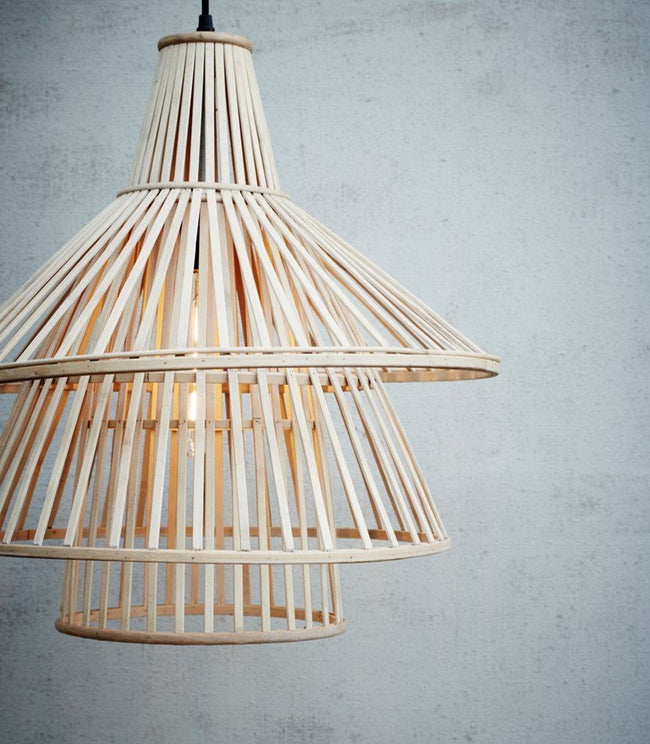 Bamboo Tiered Ceiling Lamp