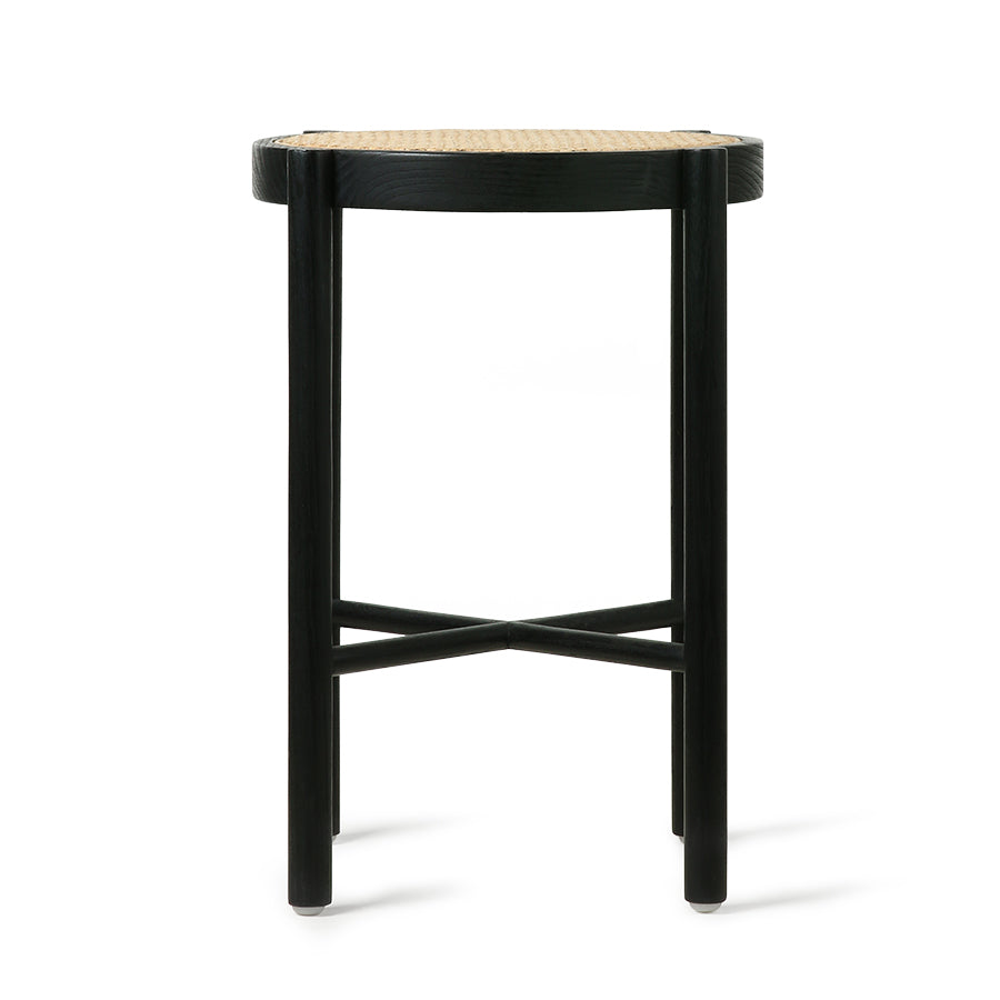 HK-Living Retro webbing stool black