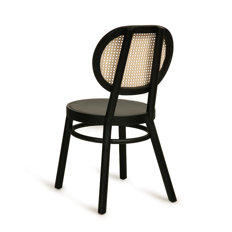HK-Living Retro webbing chair black