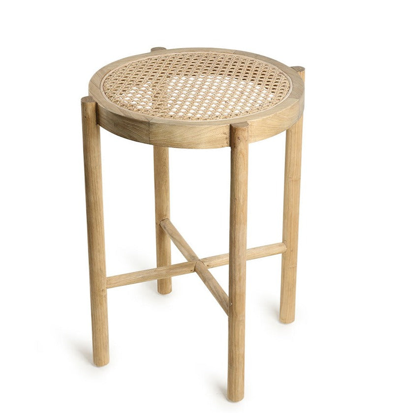HK-Living Retro webbing stool natural