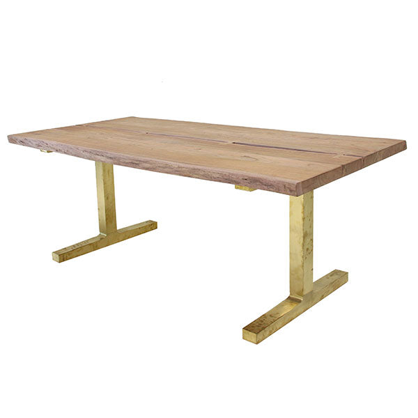 HK-Living Tree Dining Table With Brass Legs