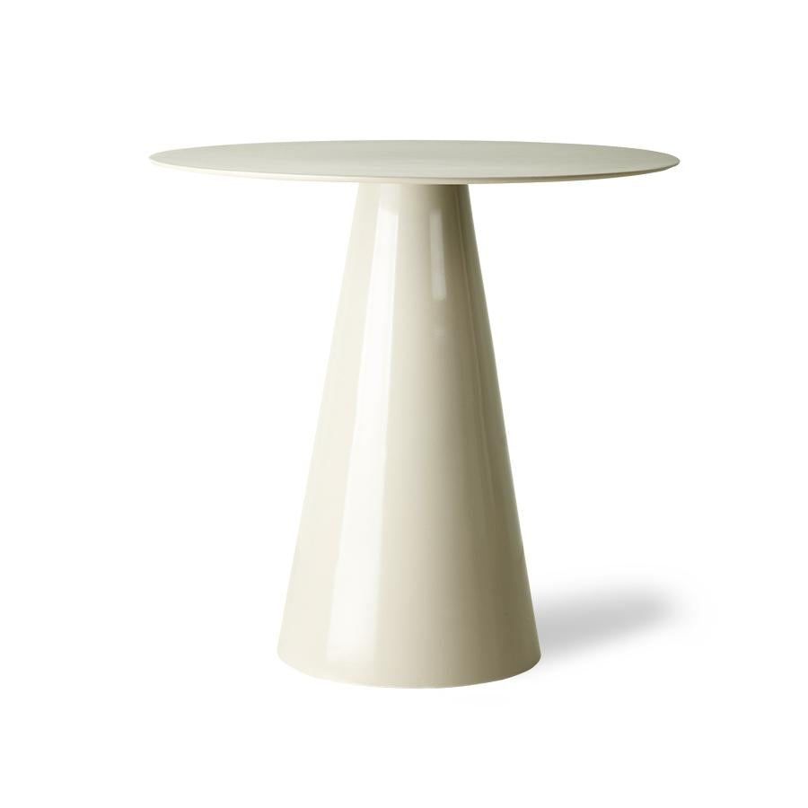HK-Living Metal Side Table Creme White 60cm