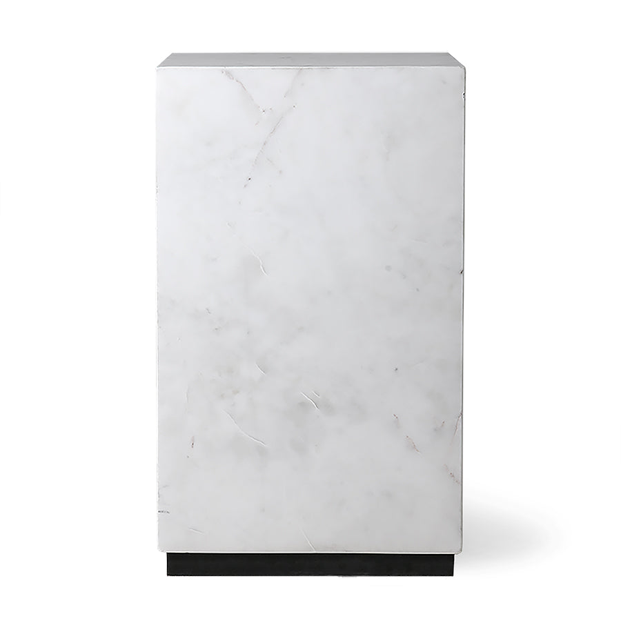 HK-Living White Marble Block Table S