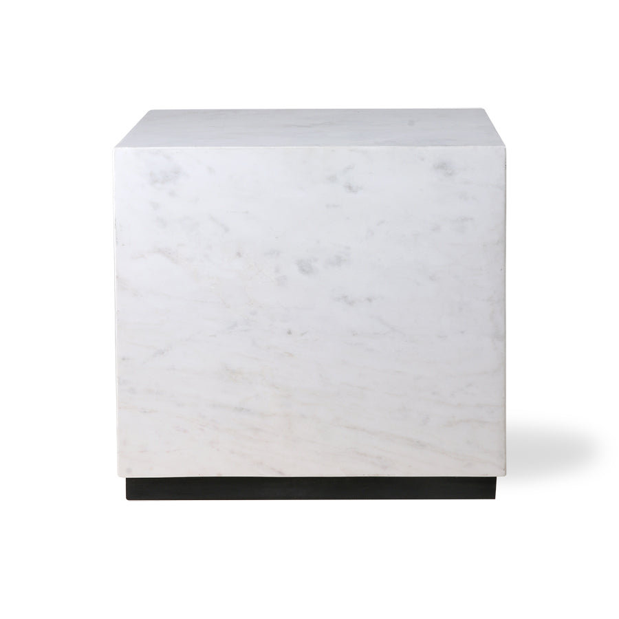 HK-Living White Marble Block Table L
