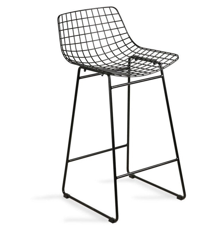 HK-Living Wire Bar Stool Black