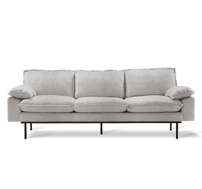 HK-Living Retro Sofa 3-Seater Sneak  Light Grey Color